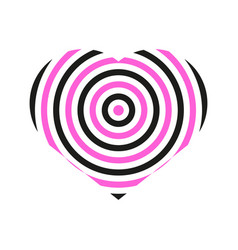 Love heart hype graphic vector