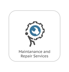 Maintanance and Repair Services Icon Flat Design vector image vector image