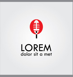 microphone logo vector image vector image