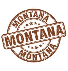 Montana brown grunge round vintage rubber stamp vector