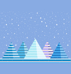 mountain winter landscape is flat style vector image vector image