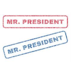Mrpresident textile stamps vector