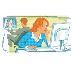 Online dating vector