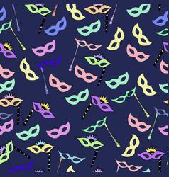 pattern of carnival masks vector image vector image