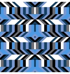 Pattern with stripe chevron geometric shapes vector image vector image