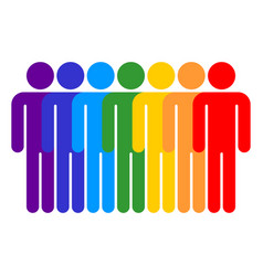 seven man sign people icon vector image vector image