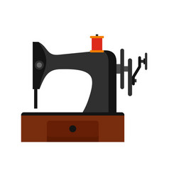 sewing machine icon flat style vector image