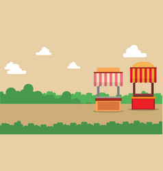 Street stall design landscape background vector