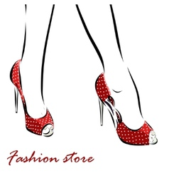 with legs of woman in fashion summer vector image