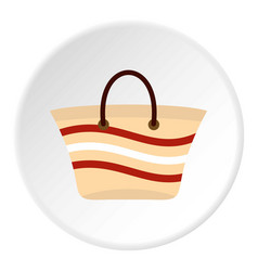 Women beach bag icon circle vector