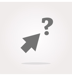 Computer button with arrow and questions mark web vector
