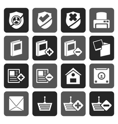 Flat internet and website buttons and icons vector