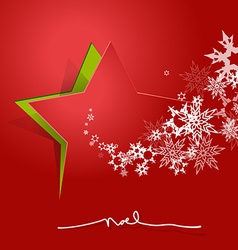 Abstract background with christmas star and noel vector