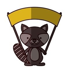 Isolated raccoon cartoon design vector image