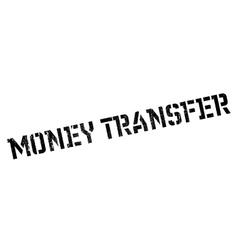 Money transfer rubber stamp vector