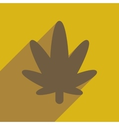 Flat web icon with long shadow cannabis vector