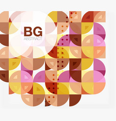 Abstract background of circle elements vector