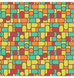 Stained glass pattern background vector