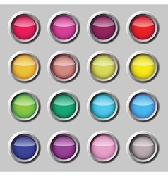 Button web set vector