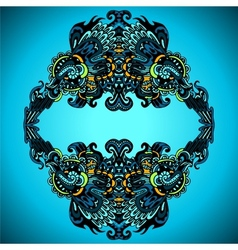 Decorative flourish frame vector