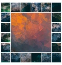 set polygonal backgrounds vector image