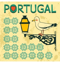 Concept card with tipical portuguese lantern and vector