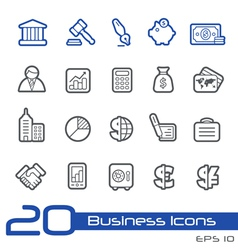 Business Finance Outline Series vector image