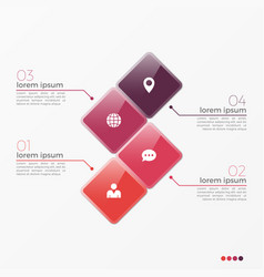 4 option infographic template with squares vector image vector image