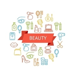 Beauty outline concept vector