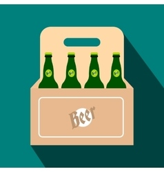 Packaging with beer flat icon vector