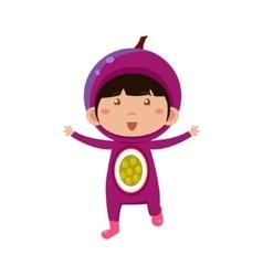 Kid in fruit costume vector