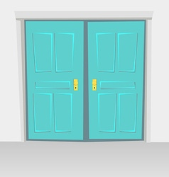Interior doors hinged bivalve swings door colored vector