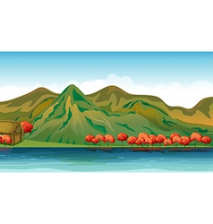 A river and a house vector image vector image