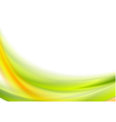 Abstract bright green and orange wavy background vector