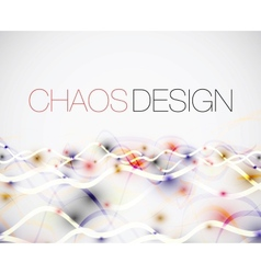 Abstract chaos lines background vector image