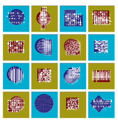 Abstract graphic arts set geometric vector