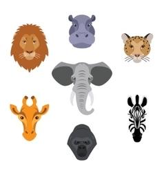 African flat animals vector
