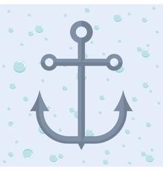 Anchor nautical marine icon graphic vector image vector image