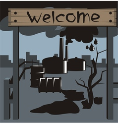 Bad ecology002 vector image