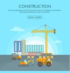Building process concept area cartoon style vector
