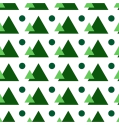 Circle and triangle seamless pattern vector