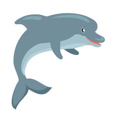 dolphin cartoon flat vector image vector image