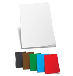 Empty color brochure vector image vector image