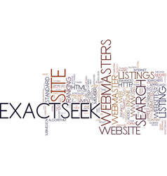 Exactseek explained part text background word vector