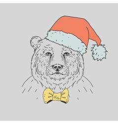 Hand drawn wild bear vector