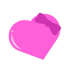 heart love balloon ribbon tie graphic vector image