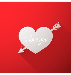 I love you Abstract holiday background with a vector image vector image