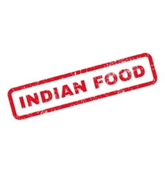 Indian food text rubber stamp vector