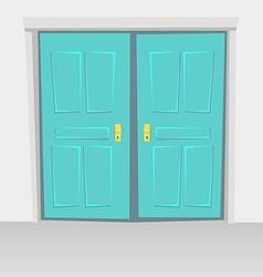 Interior doors hinged bivalve swings door colored vector