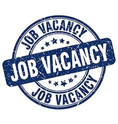 Job vacancy blue grunge round vintage rubber stamp vector